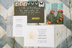 handlettered invites program | Jackie + Andy | Santa Fe Wedding | Jenn Emerling Weddings