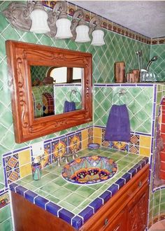 mexican tile bathroom designs bathroom vanity using mexican tiles by kristiblackdesigns 19453