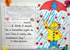 I love this idea of incorporating Cloudy with a Chance of Meatballs and The Day It Rained Hearts with Valentine's Day!