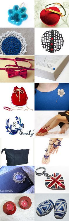 Red and blue by Laura P. on Etsy--Pinned with TreasuryPin.com