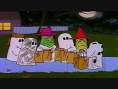 Last-minute Halloween costume- cut bunch of holes in a white sheet, wear all black, and grab a bag of rocks. You are now Charlie Brown ;)!  Charlie Brown: I got a rock - YouTube