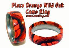 blaze orange camo wedding rings - Orange Camo Wedding Rings