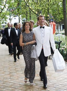royalwatcher:  Princess Marie and Prince Joachim attended the silver wedding anniversary of the Baron and Baroness Wedell-Wedellsborg, May 10, 2014