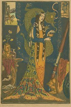'Morgan Le Fay' by Christian Waller (late 1920s).