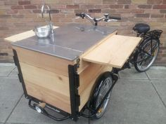 Icicle Tricycles Custom Cargo Bike Food Cart Design, Food Truck Design, Cafe Design, Food Box, Bicycle Cart, Vendor Cart, Beer Bike, Coffee Carts, Bike Coffee