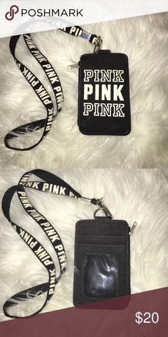 85d94c3191744d Vs pink- lanyard and ID holder Super cute lanyard and iD holder! EUC 💕