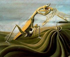 Oscar Dominguez - La mante religieuse, 1938.