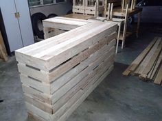 Pallet desk counter or reception desk