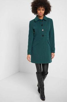 Eleganter Mantel - Grün Elegant, Mantel, Coat, Jackets, Highlights, Fashion, Plaid Scarf, Chic, Women's