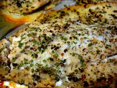 Easy Peasy Baked fish recipe - Chives, Oregano, Lemon Pepper & Olive Oil