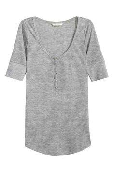 Bluză Henley cu mâneci scurte
