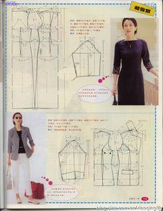 Coat Patterns, Blouse Patterns, Clothing Patterns, Apron Patterns, Simple Blouse Pattern, Barbie Vintage, Japanese Sewing Patterns, Robes Vintage, Sewing Clothes Women