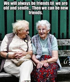 Friendship is the best thing that happens in our life, and the real friendship is you never leave your friends alone keep disturbing them ! whats is friendship without some fun & Humor, below i… Funny Quotes, Funny Memes, Hilarious, Jokes, Bff Quotes, Old Lady Humor, Just For Laughs, Friends Forever, Getting Old