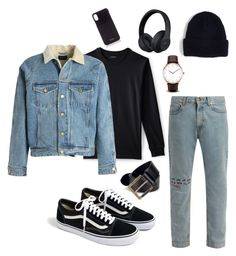 """""""✖️Jeans look✖️"""" by perlchenmerlchen ❤ liked on Polyvore featuring Lands' End, Fear of God, Gucci, J.Crew, Diesel, Beats by Dr. Dre, Vianel, men's fashion and menswear"""