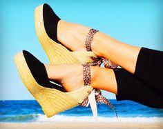 Platform Espadrilles SS17 collection. #wild #sexy #shoes #sandals #summervibes #beach #trendy #platforms #platformshoes #vegan #ecoconscious #animalprint #style #shoponline #ibizencas #etsy