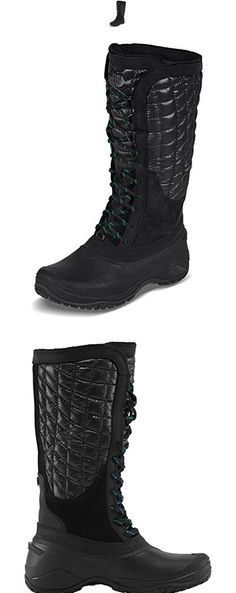 The North Face Thermoball Utility Boot Womens TNF BlackKokomo Green 9 North Face Women, The North Face, Winter Boots, Green, Shoes, Fashion, Moda, Zapatos, Shoes Outlet