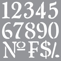 Americana Decor Stencil-Olde World Numbers