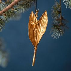 Golden Lily Ornament