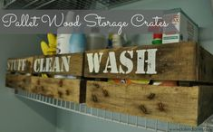 DIY Pallet Wood Storage Crates | Dolen Diaries