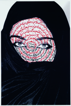 Shirin Neshat | I am its Secret | 1957 | Portrait - C-Type Print | Shirin's work has deeper meaning than how they appear really focusing on specifically Muslim women, showing them in a different light.