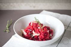 bella eats - sharing food + photography from charlottesville va - red beet risotto