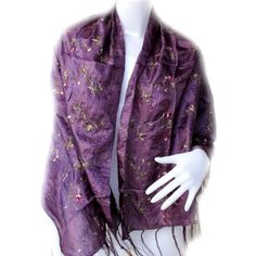 """*Thaimart* Lovely Thai flower Scarf Shawl Pashmina Wrap Throw - Over 2000 Beautiful Colours Nice & Soft As Ming FUR to Choose From (Approx. 27 X Approx. 81) By Thaimart Handicraft by Thaimart Scarf. $8.99. Thaimart* Scarf Shawl Pashmina Wrap Throw - Over 2000 beautiful colours NICE & SOFT AS MING FUR to choose from (Approx. 27"""" x Approx. 81"""") 70% Cotton/30% Polyester HandWash This fashionable pashmina scarf, wrap or shawl is the perfect finishing touch to almost any..."""