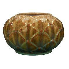 "Fulper Pottery Co. Artichoke vase 8.5""dia x 5.5""h : Lot 87"