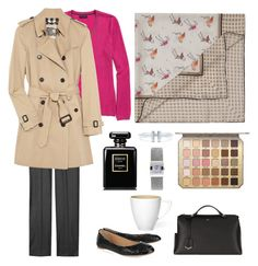 """Coffee time"" by terezah on Polyvore featuring Fendi, Yves Saint Laurent, Tommy Hilfiger, Reed Krakoff, Burberry, Chanel, Tiffany & Co., Too Faced Cosmetics and Tissot"