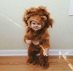 """""""Grrrrrr"""", Smiling Baby Boy in Lion Costume. So Cute Baby, Baby Kind, Cute Kids, Cute Babies, Fun Baby, Pretty Kids, Little Babies, Little Boys, Halloween Bebes"""