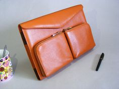 Brown Apple Macbook Pro Carrying Briefcase Case and от leathercase