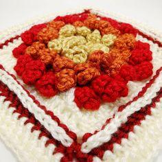 Chrysanthemum Granny Square Pattern, crochet pattern, crochet squares, granny squares, crochet square pattern, autumn crochet, fall decor Granny Square Crochet Pattern, Crochet Squares, Crochet Granny, Crochet Patterns, Crochet Fall, Free Crochet, Knit Crochet, Caron Simply Soft, Granny Square Blanket