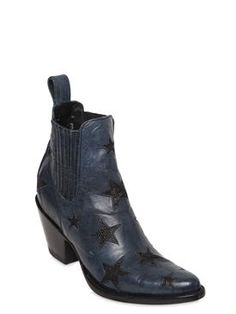 mexicana - women - boots - 65mm leather ankle boots w/ stars