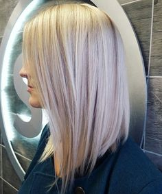Long blonde bob haircut and color. My sister, Lauren Eugenio, work is featured in here. modern long bob haircut lange haare schnitt wellig Best Bob Hairstyles & Haircuts for Women Long Bob Blonde, Blonde Bob Haircut, Haircut And Color, Icy Blonde, Blonde Long Bob Hairstyles, Long Bon Hairstyles, Blonde Curls, Wedding Hairstyles, Hairstyles Haircuts