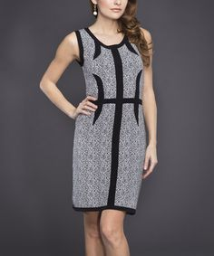 Another great find on #zulily! Black & White Paisley Sheath Dress by Adore #zulilyfinds