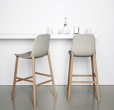 The Sharky Stool by Neuland, Paster & Geldmacher features narrow lines and a comfortable design ideal for small spaces. Available...