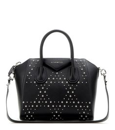 Givenchy - Antigona Small leather tote - Givenchy's Antigona Small tote is the bag topping everyone's wish list. Coveted for its tough, structured silhouette, this rich black leather style is finished with shiny silver-tone studs. Invest now in a classic bag that's set to remain achingly cool for seasons to come. seen @ www.mytheresa.com