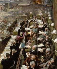 The Nuremberg Trials by Dame Laura Knight,in 1936 became the first woman elected to the Royal Academy since its foundation in 1768
