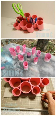 DIY Projects and we can make 10 wonderful PVC DIY Craft Ideas with leftover PVC pipes and these all crafts you will see here with free videos and tutorials. Diy Projects Using Pvc Pipe, Pvc Pipe Crafts, Pvc Projects, Cool Diy Projects, Diy And Crafts, Welding Projects, Gadgets, Kids Room Organization, Organizing Ideas