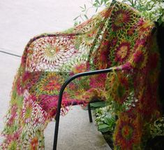 Ravelry: meknitpretty's circus motif wrap Love this.  More ideas for the lace Mohair