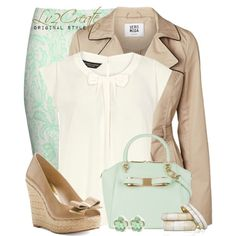 Mint n Nude, created by lv2create on Polyvore