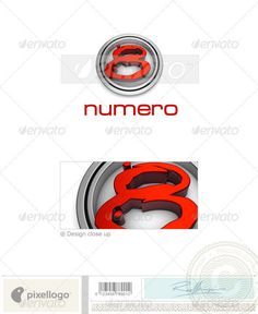 Numbers Logo  3D48 — Photoshop PSD #logo #d • Available here → https://graphicriver.net/item/numbers-logo-3d48/497426?ref=pxcr