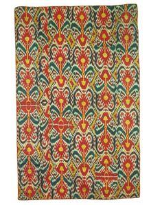 Ikat Hanging/cover, Uzbekistan, Late 19th century. Silk, cotton; warp ikat.