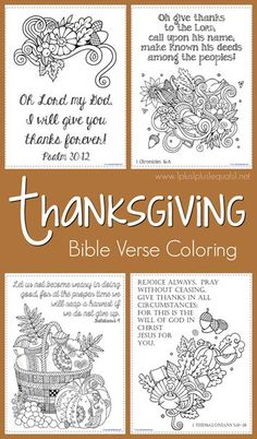 FREE Thanksgiving Bible Verse Coloring Pages - Homeschool Giveaways Thanksgiving Bible Verses, Thanksgiving Coloring Pages, Thanksgiving Crafts For Kids, Thanksgiving Activities, Fall Crafts, Thanksgiving Feast, Christmas Crafts, Sunday School Lessons, Sunday School Crafts