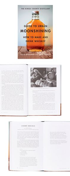 For the liquor connoisseur who prefers to keep it neat, this informative hardcover details whiskey's impact on American culture from 1640 to present day. The spirit's storied timeline is complemented b...  Find the Guide to Urban Moonshining Book, as seen in the The Distillery Collection at http://dotandbo.com/collections/the-distillery?utm_source=pinterest&utm_medium=organic&db_sku=117215