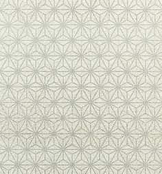 Starbright Wide Width Wallpaper Stunning, statement wallpaper with geometric star design and glittered mica finish.