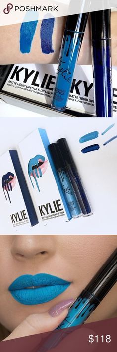 """Kylie Limited Edition 4th of July Bundle deal! 2 Kylie Lip kit bundle limited edition these Will not be restocked or sold in the future! One they are gone they are gone! And Sold out! My shipment arrives within the next week will ship same day! Get 2 matte lip kits one """"freedom"""" and one """"skylie"""" lipstick amd matching lip liners Kylie Cosmetics Makeup Lipstick"""