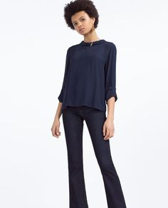 Image 1 of ROLL NECK BLOUSE from Zara