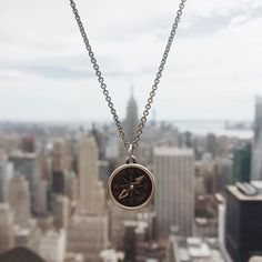 With a fun-spinning pointer, the sterling silver and bronze compass carries meaning for those who wear it. The smooth back is ideal for a personal engraving. James Avery, Artisan Jewelry, Fashion Photo, Jewelery, Jewelry Accessories, Bronze, Charmed, Bling, Sterling Silver