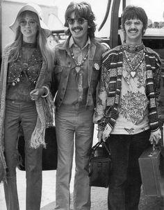 Pattie Boyd, George Harrison and Ringo Starr