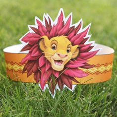Lion King party hat  http://family.go.com/printables/article-1023269-simba-king-of-the-jungle-crown-t/